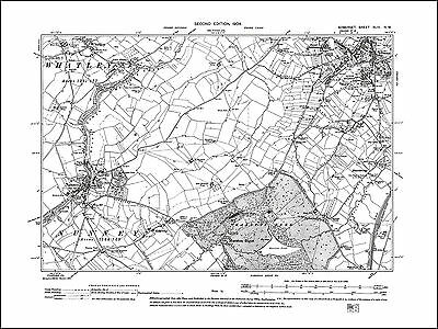 Frome SW, Nunney, Whatley, old map Somerset 1904: 43NW repro