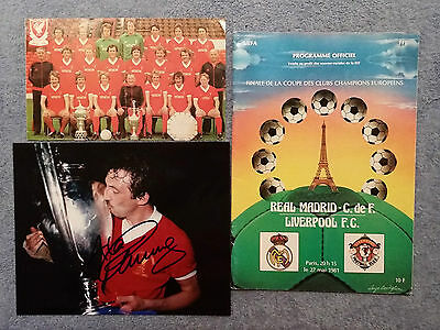 1981 - European Cup Final Programme + Signed Alan Kennedy Photo