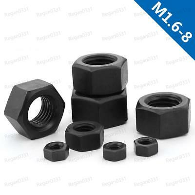 M1.6 To M8 Hexagon Nuts Hex Nuts Black 8.8 Class Carbon Steel DIN934