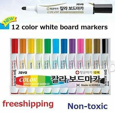2piece new whiteboard markers White Board Dry-Erase Marker Pens 12 Colors normal