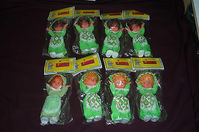 """8pc NOS Dime Store Lot 7.5"""" Karen Doll by PAX Canada 3 Variations Blond Brunette"""