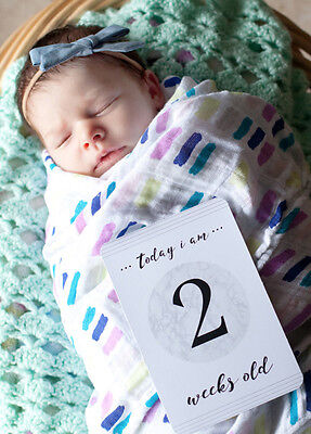 NEW - Blossom & Pear - Baby Milestone Cards in Marble