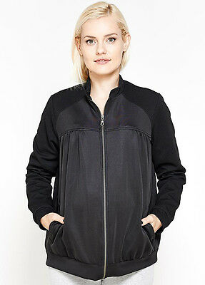 NEW - Imanimo - Elizabeth Maternity Bomber Jacket in Black