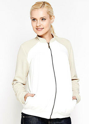 NEW - Imanimo - Elizabeth Maternity Bomber Jacket in Cream