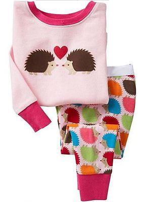 Baby Gapok - Long Sleeve cotton pyjamas - Embroided Pink Hegdehogs