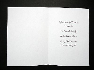 Card Inserts with Printed Christmas Greeting for A6 Craft cards (Portrait) Pk 20