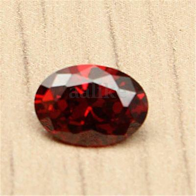 7x5mm Beautiful Oval Shape Cut Red Ruby Mozambique Loose Gemstone Stone Gem