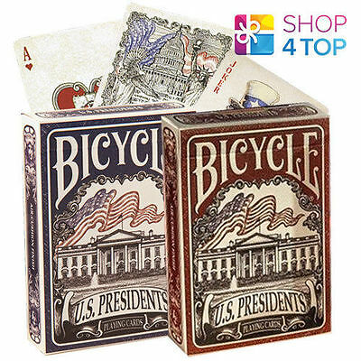 Bicycle Us Presidents Playing Magic Tricks Poker Cards Deck Blue Red New