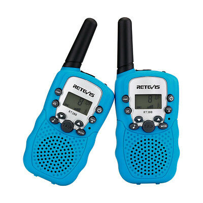 2*Retevis RT-388 Kinder Walkie Talkie UHF Call alert  2-Way Radio Sky Blue