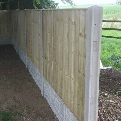 Concrete Slotted Fence Posts 5 ft - 9 ft FREE DELIVERY 50 MILES OF BOSTON