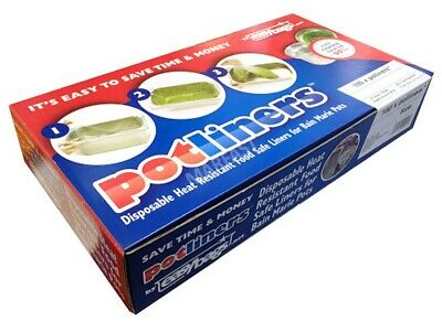 100 x Easy Bag Disposable Pot Liners  (SIZE 2) CATERING CAFE CHIPPY FOODS (9402)