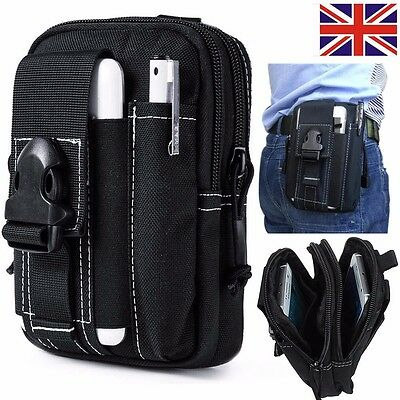 Men Travel Bum Bag Fanny Pack Waist Zipped Money Belt Passport Pouch Wallet UK