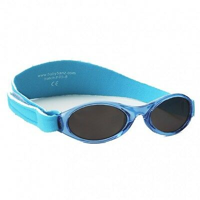 Baby Banz 0-2yr Boys Aqua Blue Oval Adventurer Sunglasses 100% UVA Protection
