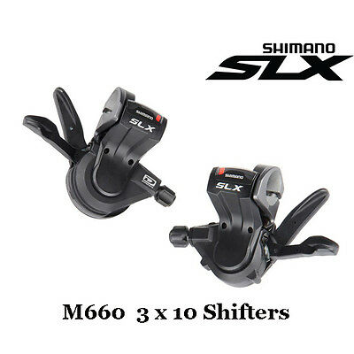 Shimano SLX SL-M660 3x10-Speed Shifter Levers W/Cable Set Rapidfire MTB