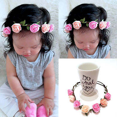Boho Infant Baby Girl Toddler Flower Headband Hair Band Garland Hair Accessories