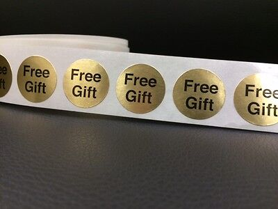 """50 FREE GIFT 7/8"""" Stickers/labels GOLD FOIL FREE GIFT STICKER NEW CRAFT CIRCLE"""