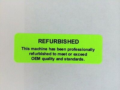 "108 1"" x 3"" REFURBISHED OEM Stickers Labels Laser MACHINE LABELS GREEN"