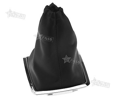 Shift Knob Cover Boot Gaiter Gear Cover Black PU For Ford Focus 2005-2010
