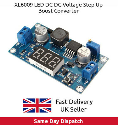 XL6009 LED DC-DC Voltage Step Up Boost Converter like LM2577 3-32v input UK Fast
