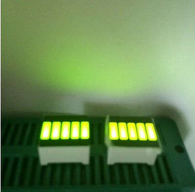 2pcs LED Bar Display Segments 5LED Bar Graph Yellow Green Light 5 Segment Bar