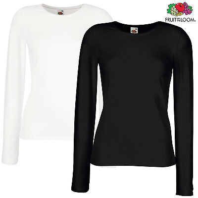 New Womens Long Sleeve Round Neck Plain Basic Ladies Stretch T-Shirt Top 8-26