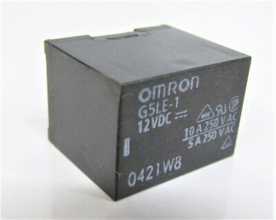 Omron G5Le-1 12Vdc 10A 250Vac Power Relay New