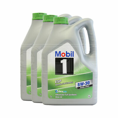 Mobil 1 ESP 5W-30 Fully Synthetic Engine Oil - 3 x 5 Litres 15L