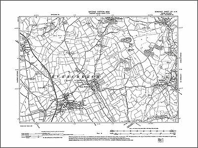Evercreech, Stoney Stratton, Chesterblade, old map Somerset 1904: 54NW repro