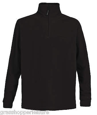 Trespass Lap Mens 1/2 Zip Micro Fleece - Black Sizes M L Xl Xxl