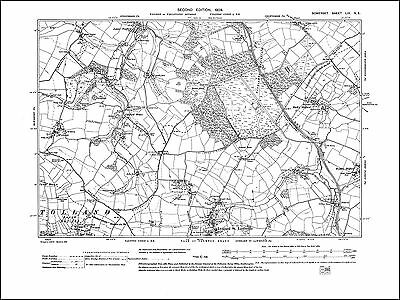 Lydeard St Lawrence north, old map Somerset 1904: 59NE repro