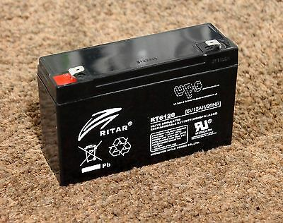 New - RITAR 6v 12AH TOP QUALITY rechargeable lead acid Battery RT6120