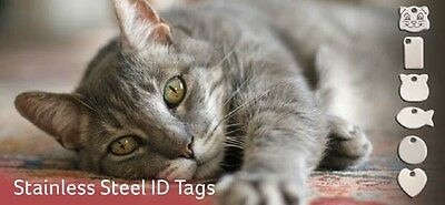 Red Dingo Cat ID Tags Free Engraving-Lifetime Guarantee Brass or Stainless steel