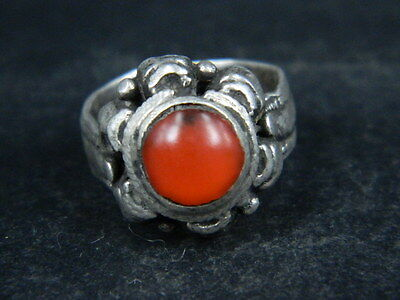 Antique Post Medieval Silver ring With Stone 1800 AD    ##AZ12##