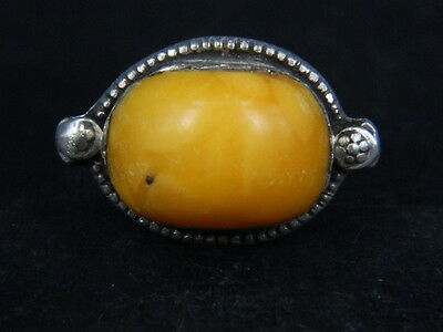 Antique Post Medieval Silver ring With Stone 1800 AD    ##AZ09##