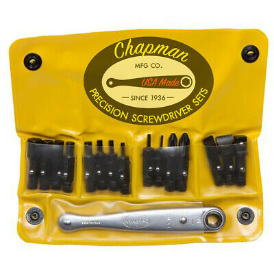 Chapman MFG #1316 All Purpose Soft Pack American Made Ratchet Screwdriver Set