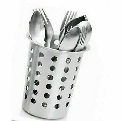 Cutlery Holder Caddy Pot Utensil Kitchen Drainer Conical Stand Stainless Steel