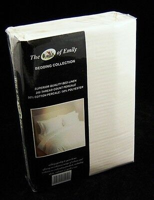Cream Super King Size Superking Pillowcases Pillow Cases 200 TC