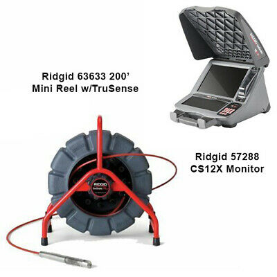 Ridgid 200' Mini Reel with TruSense (63633) CS12X Monitor (57288)