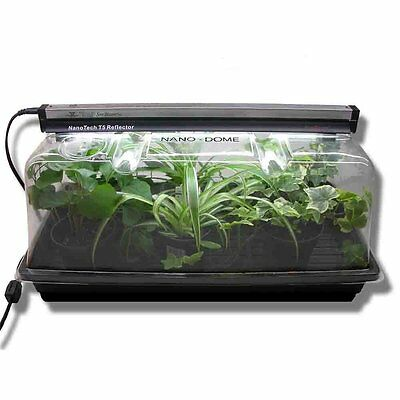 "Garden Propagation Combo Kit 18"" T5 Light Fixture 7"" High Dome 10 x 20-Inch Tray"
