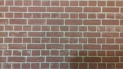 Dolls House Quality Card Brick Paper 1:12th Scale  A3 Sheet Brown Brick WP547
