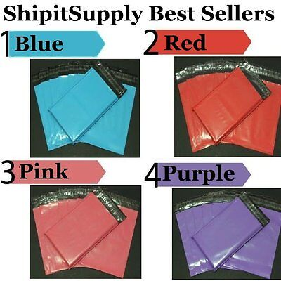 1-1000 10x13 ( Blue Pink Purple or Red ) Color Poly Mailers Fast Shipping