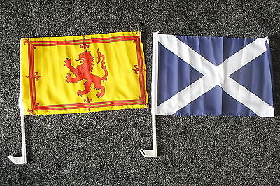 SCOTLAND Car Flag ST ANDREW ROYAL LION Scottish Military Rugby Football Sports