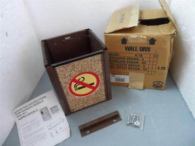 """Howard R10-201 Wall Urn Brown 13"""" High X 10"""" Square New"""