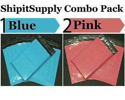 2-1000 10x13 ( Blue & Pink ) Color Poly Mailers Ship Boutique Bags Fast Shipping