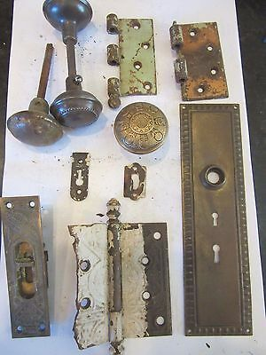 Mixed Lot Door Knobs Glass spindles Plate Doorknobs Copper Brass Metal