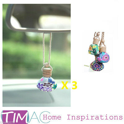 Style Hanging Bottle Diffuser Hanging Car and Home Air Freshener 3 In one Set