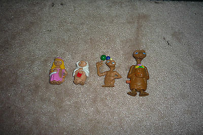 Lot of 4 E.T The Extra Terrestrial Figurines 1982, Universal Studios, 2002