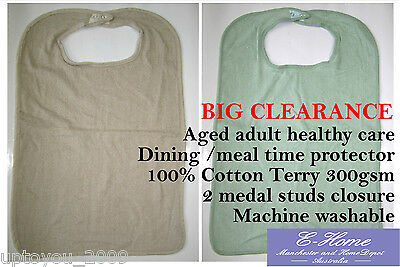 CLEARANCE sale Adult Bib Clothing Protector, Mealtime Aid, Apron,  Cotton Terry