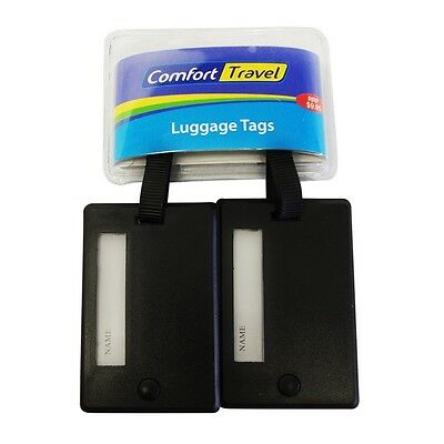 Comfort Travel 13300 Twin Pack Luggage Tag Black