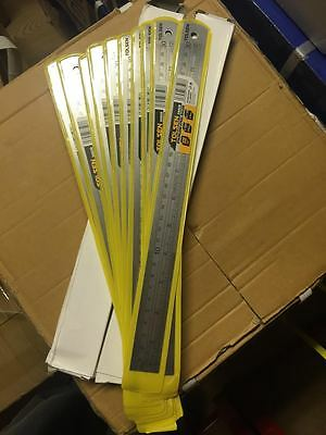 "Wholesale Joblot 30 x Stainless Steel Rulers 12"" (300mm) Brand New under £1 each"
